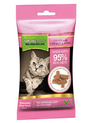 Natures Menu Cat Treats Chicken & Liver - 60 gr. (12 verp.)