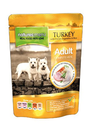 Natures Menu Dog Pouch Chicken & Turkey - 300 gr. (8 verp.)
