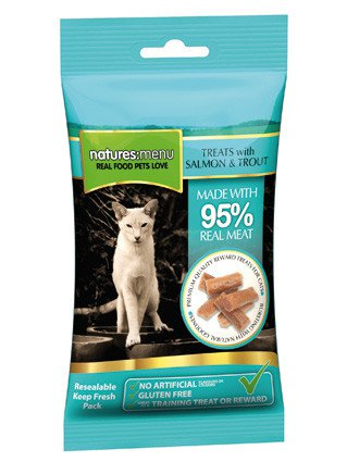 Natures Menu Cat Treats Salmon & Forel - 60 gr. (12 verp.)