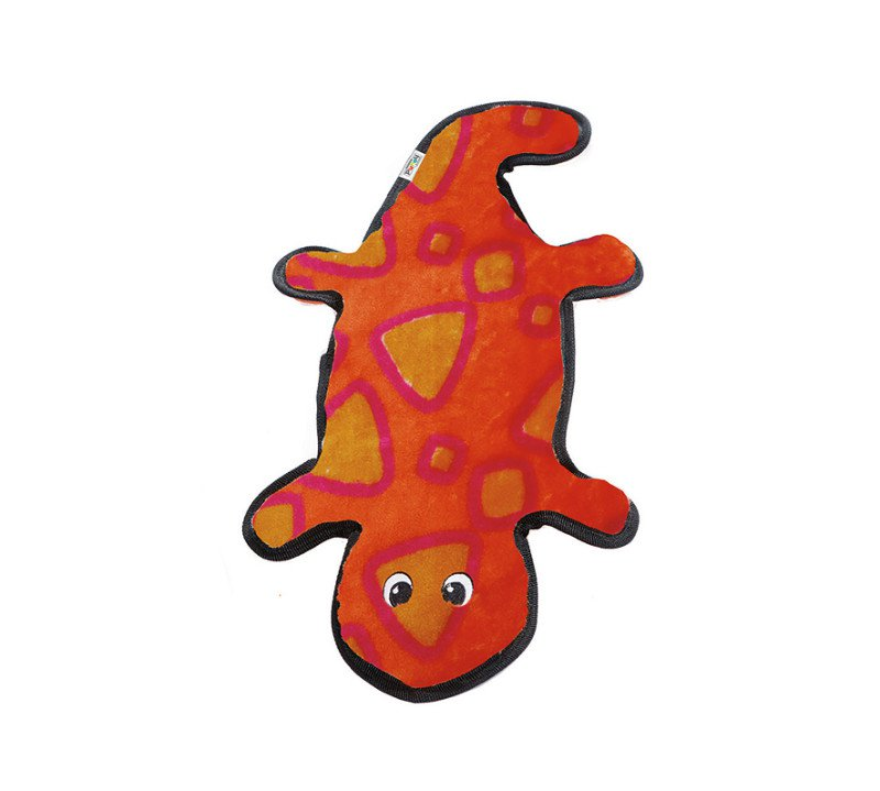 Outward Hound Invincible Gecko Red/Orange 4 Squeakers
