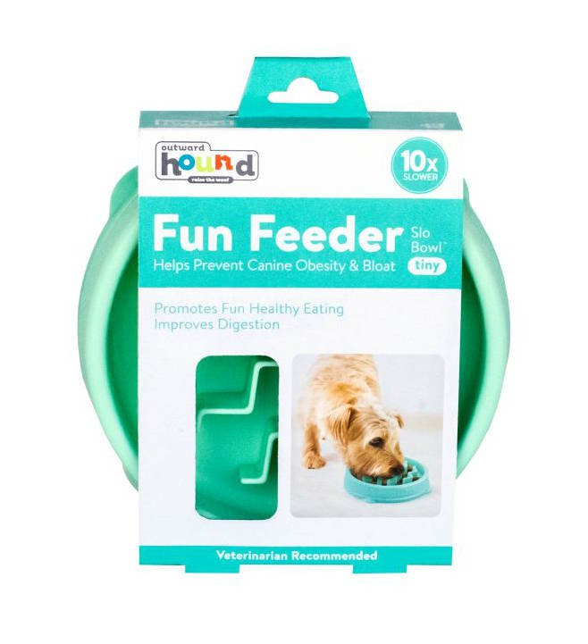 Outward Hound Fun Feeder Wave Mint X-Small