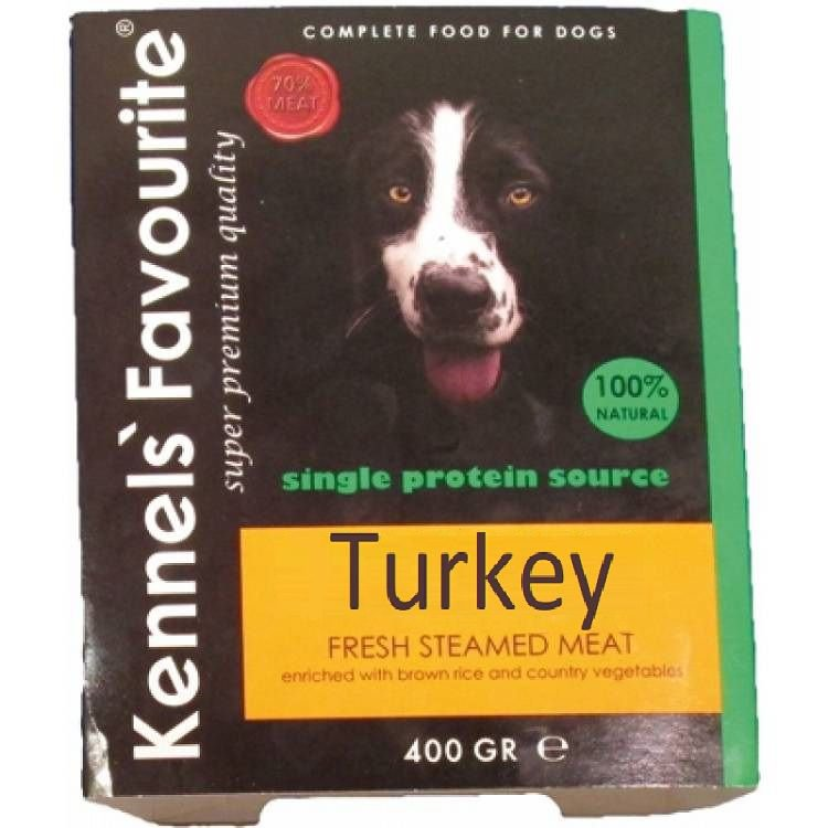 Kennels Favourite Steamed Turkey - 395 gr. (10 verp.)