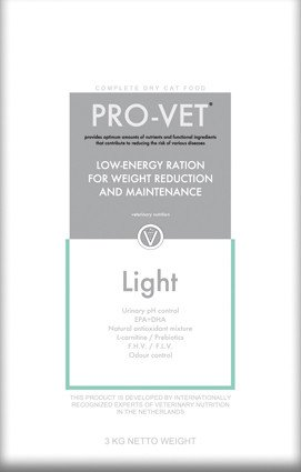 Pro-Vet Cat Light/Weight control - 3 kg.