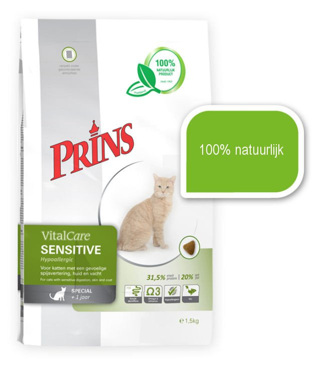 Prins Cat Sensitive Hypo Allergeen - 5 kg.