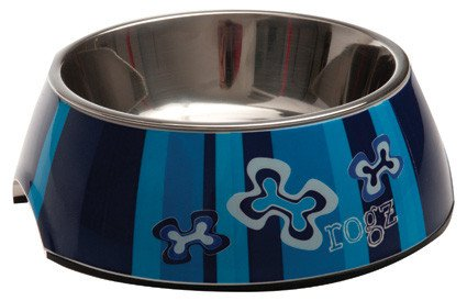 Rogz Bubble Bowlz Indigo Bones - Small