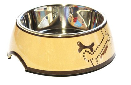 Rogz Bubble Bowlz Bronze Bone - Medium