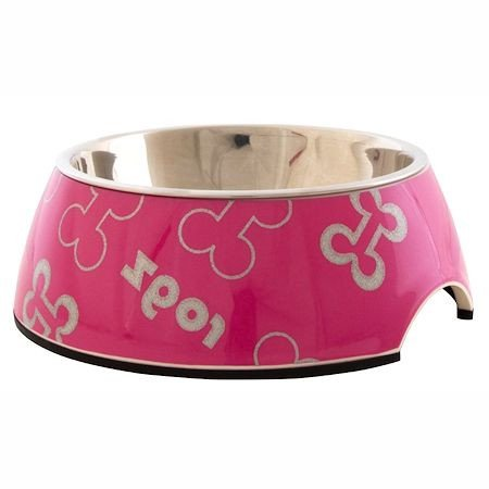 Rogz Bubble Bowlz Pink Bone - Small