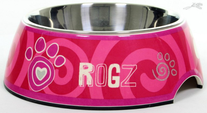 Rogz Bubble Bowlz Pink Paw - Large