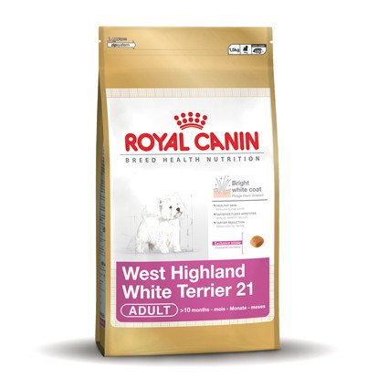 Royal Canin West Highland White Terrier 21 Adult - 3 kg.