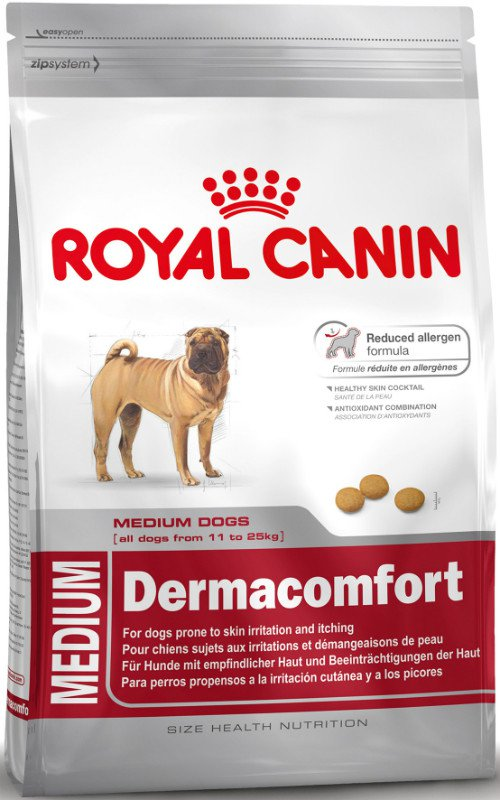 Royal Canin Medium Dermacomfort 24 - 10 kg.