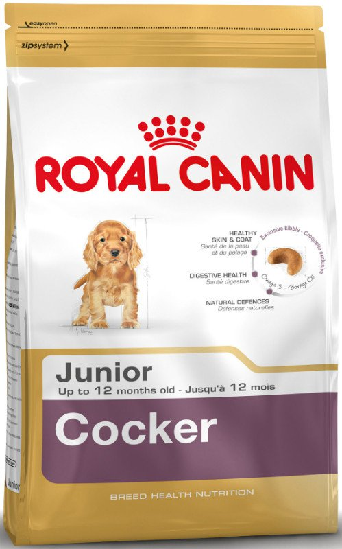 Royal Canin Cocker Junior - 3 kg.