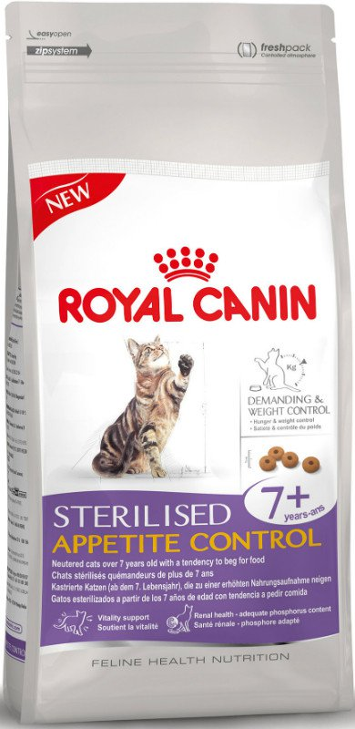 Royal Canin Sterilised Appetite Control 7+ - 1,5 kg.