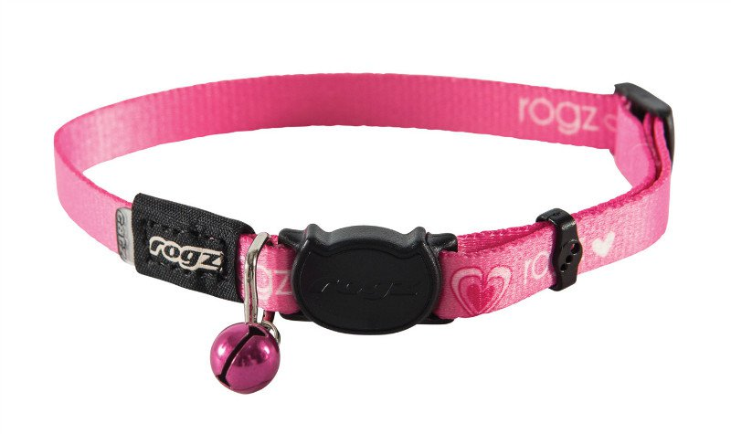 Rogz KiddyCat Pink Hearts - 11mm | 20-31 cm
