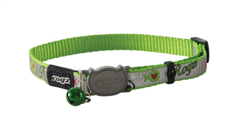 Rogz Reflectocat Lime Fish - 11mm | 20-31 cm