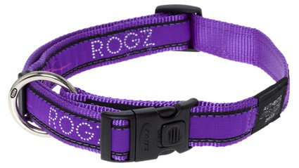 Rogz Armed Response Halsband Purple Chrome XL - 25mm
