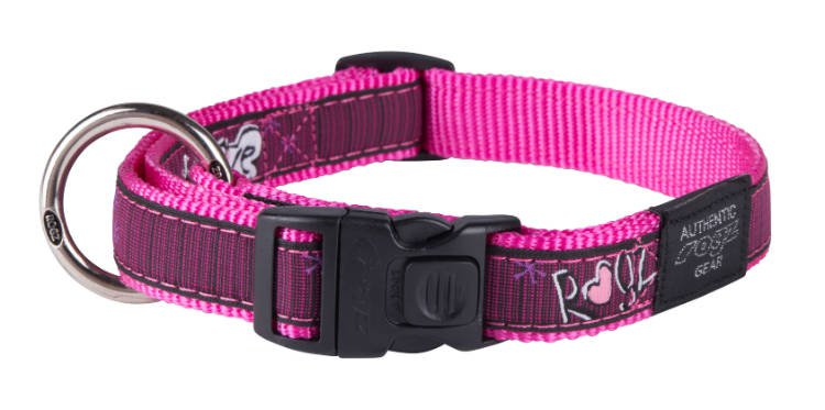 Rogz Beach Bum Halsband Love Pink L - 20mm