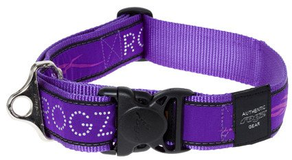 Rogz Special Agent Halsband Purple Chrome XXL - 40mm