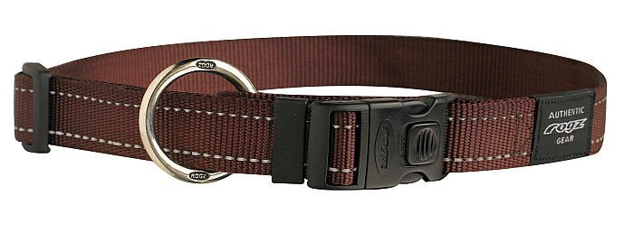 Rogz Lumberjack Halsband Chocolate XL - 25mm
