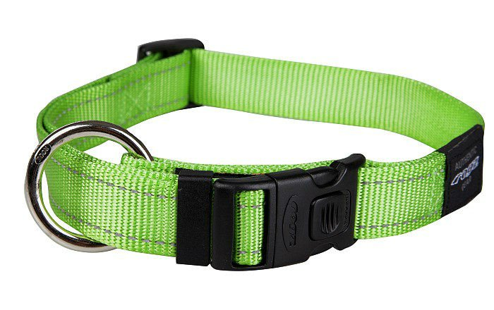 Rogz Lumberjack Halsband Lime XL - 25mm
