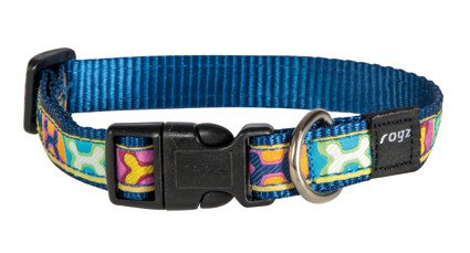 Rogz Scooter Halsband Pop Art Navy M - 16mm