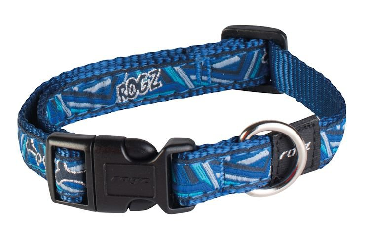 Rogz Scooter Halsband Navy Zen M - 16mm