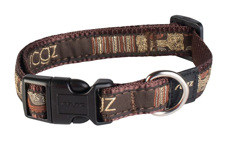 Rogz Scooter Halsband Mocha Bone M - 16mm