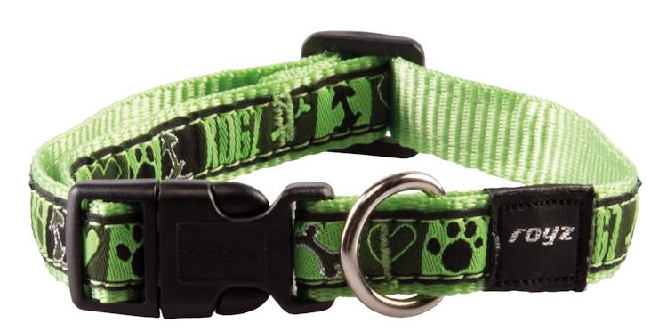 Rogz Scooter Halsband Lime Juice M - 16mm