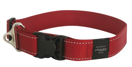 Rogz Landing strip halsband red XXL - 40mm