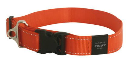Rogz Landing strip halsband orange XXL - 40mm