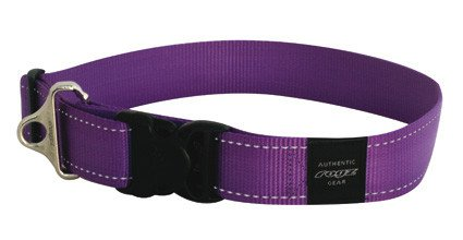 Rogz Landing strip halsband purple XXL - 40mm