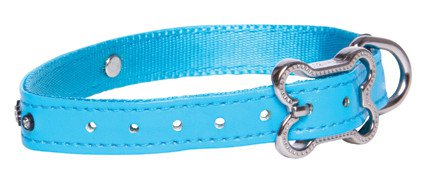 Rogz Lapz Luna Side Halsband Blue S - 13mm