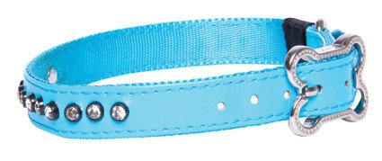 Rogz Lapz Luna Side Halsband Blue M - 16mm