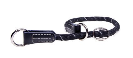 Rogz Rope Obedience Black Large - 40-45 cm / 12 mm.