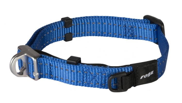 Rogz Snake Safety Halsband Blue M - 16mm