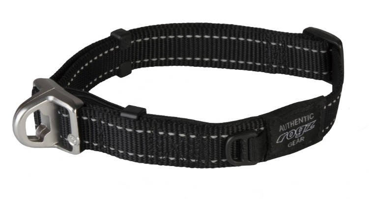 Rogz Fanbelt Safety Halsband Black L - 20mm