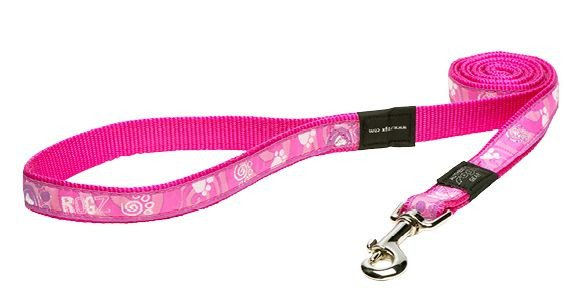 Rogz Beach Bum Lijn XL Pink Paw L  - 20mm
