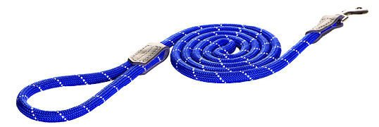 Rogz Rope Lijn Lang Blue Medium - 180 cm / 9 mm.