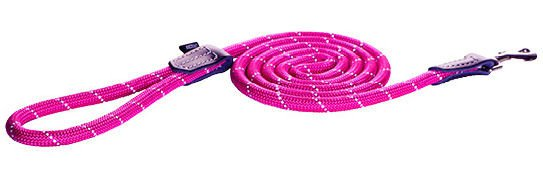 Rogz Rope Lijn Lang Pink Medium - 180 cm / 9 mm.
