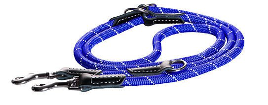 Rogz Rope Lijn Multi Blue Medium - 200 cm / 9 mm.