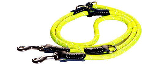 Rogz Rope Lijn Multi Yellow Medium - 200 cm / 9 mm.