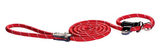 Rogz Rope Lijn Jacht Red Large - 180 cm / 12 mm.