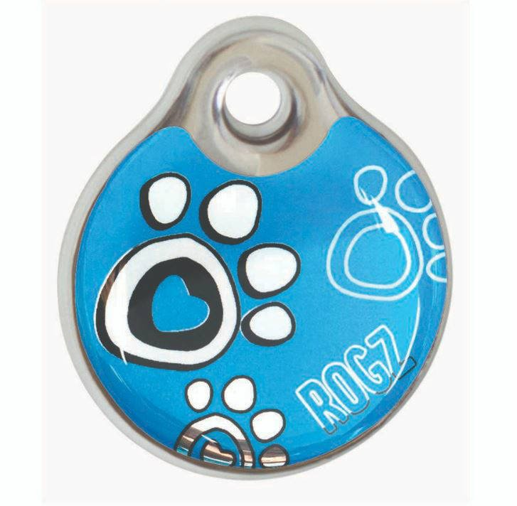 RogZ ID Tag Small Turquoise Paw