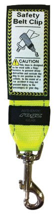Rogz Safety Belt Car Clip Yellow - 45mm