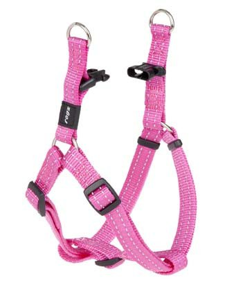 Rogz Snake Step-in H Pink M - 16mm