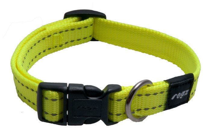 Rogz Snake Halsband Yellow M - 16mm