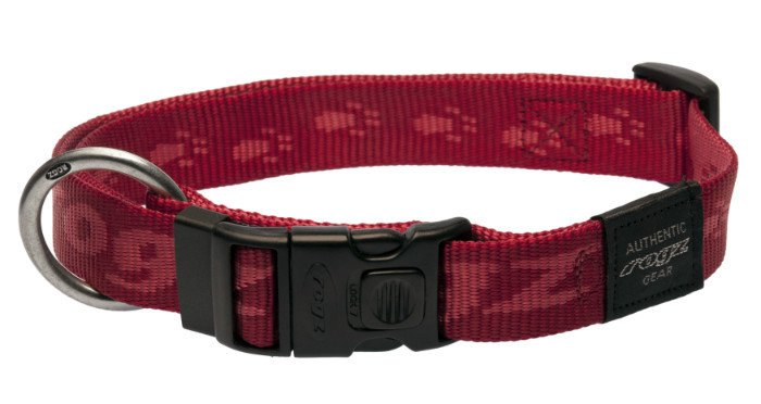 Rogz Everest Halsband Red XL - 25mm