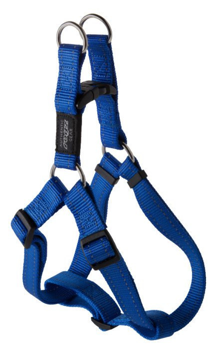 Rogz Fanbelt Step-in H Blauw L - 20mm
