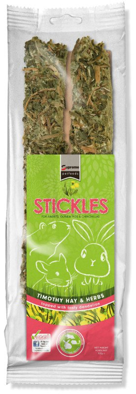 Supreme Timothy Hay & Herb Stickle - 100 gr. (8 verp.)