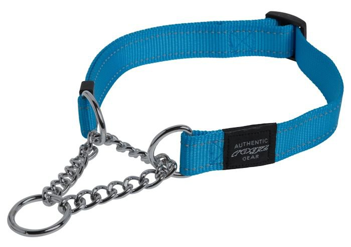 Rogz Snake Obedience Choker Turquoise M - 16mm