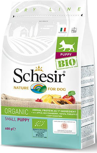 Schesir Dog Dry Bio Small Puppy - 600 gr.